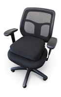 SupporTech Adjustable Memory Foam Seat Cushion - Fits Most Chairs