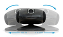 ErgoMotion Laser Mouse - side view, level