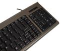 Compact Financial Scissor-Switch Membrane Keyboard - closeup