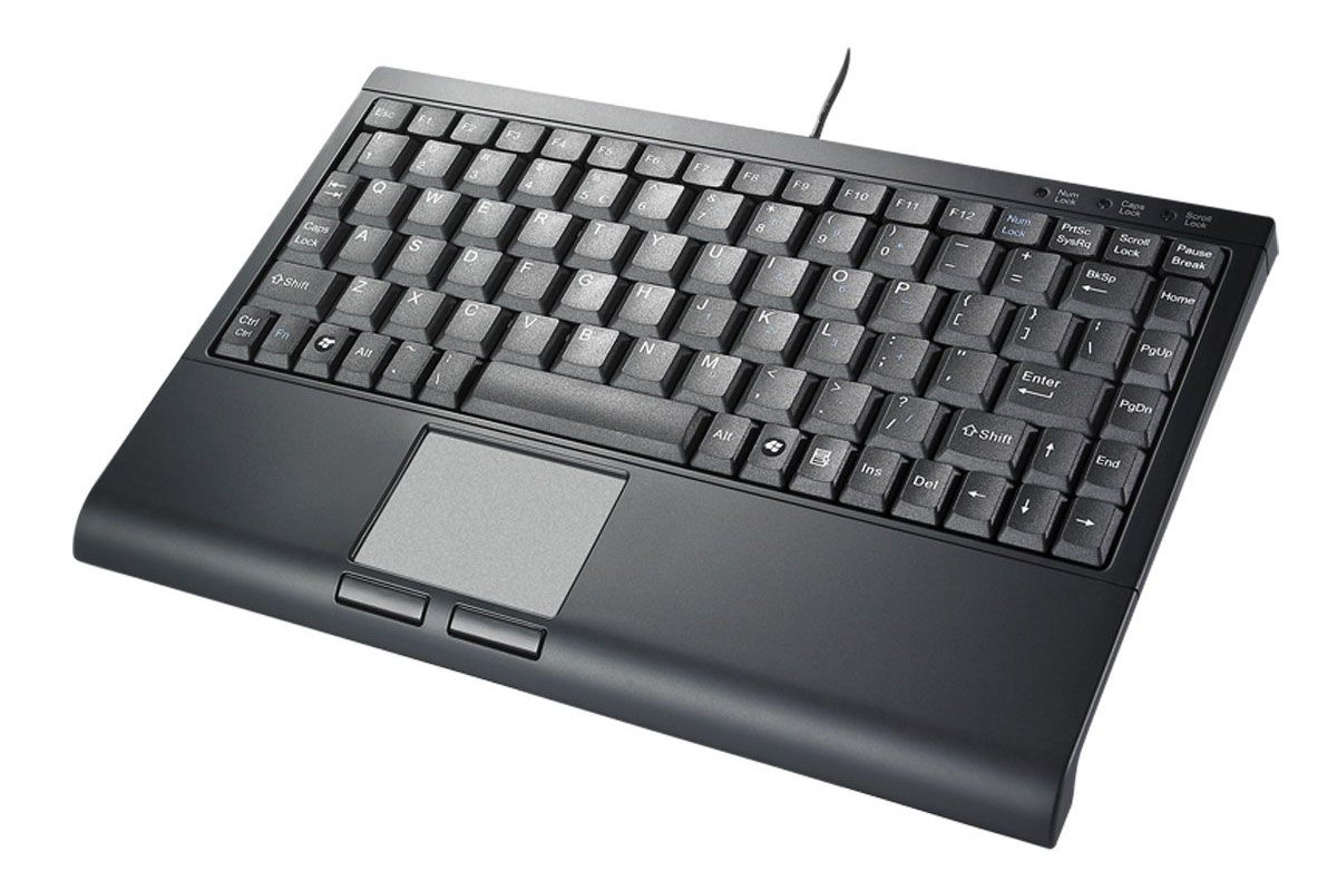Compact Mini-Keyboard with Touchpad by SolidTek : ErgoCanada - Detailed Specification Page