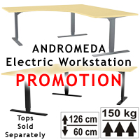 ANDROMEDA Electric Workstation Base (3-Leg) from ErgoVerse