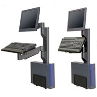 Wall Mounted Workstation With Vertical Mounting Track By Innovative