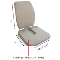 McCartys Sacro-Ease Deluxe Model Seat Support with Adjustable Lumbar Pad on Back /& 1 Poly Foam in Seat Brown 15-Inch Wide