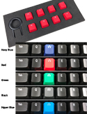 Freestyle Edge Textured Key Kit - 5 Colours