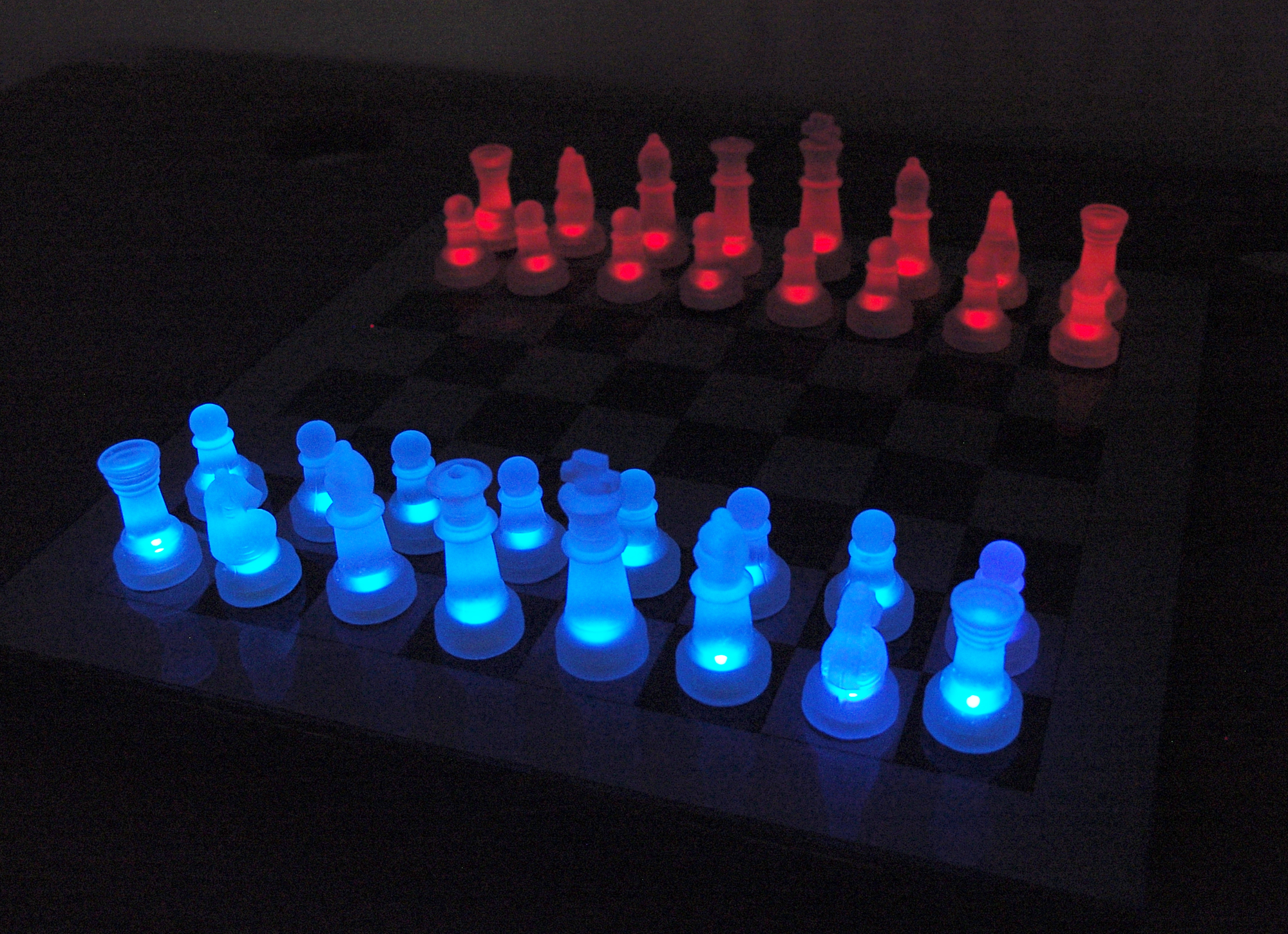 Lumisource LED Glowing Chess Set