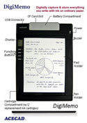 DigiMemo Digital Writing Pad - features