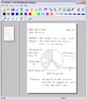 DigiMemo Digital Writing Pad - software interface