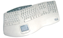Truform PRO Keyboard with Touchpad - white model