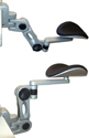 Articulating Gel Forearm Support with Removable Mouse Tray - minimum and maximum height adjustments