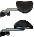 Articulating Gel Forearm Support with Removable Mouse Tray - Contoured gel pad with Lycra covering