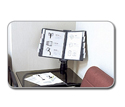 Flip & Find Desk Clamp Reference Organizer Deployed