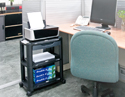 Machine Cart / Storage Shelves / Monitor Stand In Use