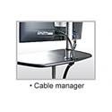 PopDesk Mobile Computer Desk - Cable Management