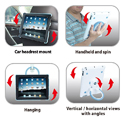 TabStand Multi-function Stand for iPad 2 - different orientations