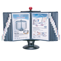 Whiteboard Copy Holder Flip and Find Display Carousel - Front View