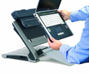 Laptop Being Attached to Docking Station on Ergo T-340