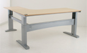 Conset 501-11 Series Electric 3-Leg Desk Base Shown With Top
