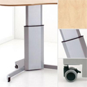 Conset 501-7 8 Height Adjustable Base - Solid Construction and Wheeled for Easy Movement