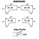 Dimensions and Edge Profile