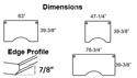 Dimensions and Edge Profile