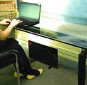 Cozy Legs Deployed Below Desk