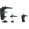 320 Series Pole Mount Single Monitor Articulating Arm - Mounting Options