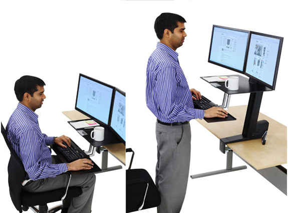 Workfit S Dual Sit Stand Workstation With Worksurface By