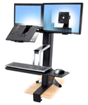 Ergotron Workfit S LCD and Laptop Sit-Stand Workstation