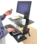 Ergotron Workfit S Single HD Sit-Stand Workstation with Worksurface for convenience