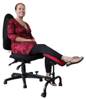 ErgoCURVE Single Leg and Foot Rest - in use