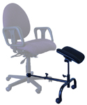 ErgoCURVE Single Leg and Foot Rest - attached to chair