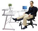 ErgoUP Double Leg and Foot Rest - in use