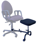 ErgoUP Double Leg and Foot Rest - attached to chair