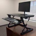 CASSIOPEIA Desktop Sit-Stand Retrofit - In Use Standing Position