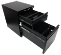 PLEIONE Mobile Pedestal File Cabinet - Drawers Fully Extend
