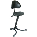 RISON Leaning Stool with Backrest