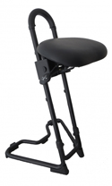 STEYBIL Leaning Stool - Leatherette Over Polyurethane Seat