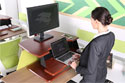 Eureka Sit-Stand Desktop Single Arm - Standing