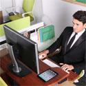 Eureka Sit-Stand Desktop Single Arm - Sitting
