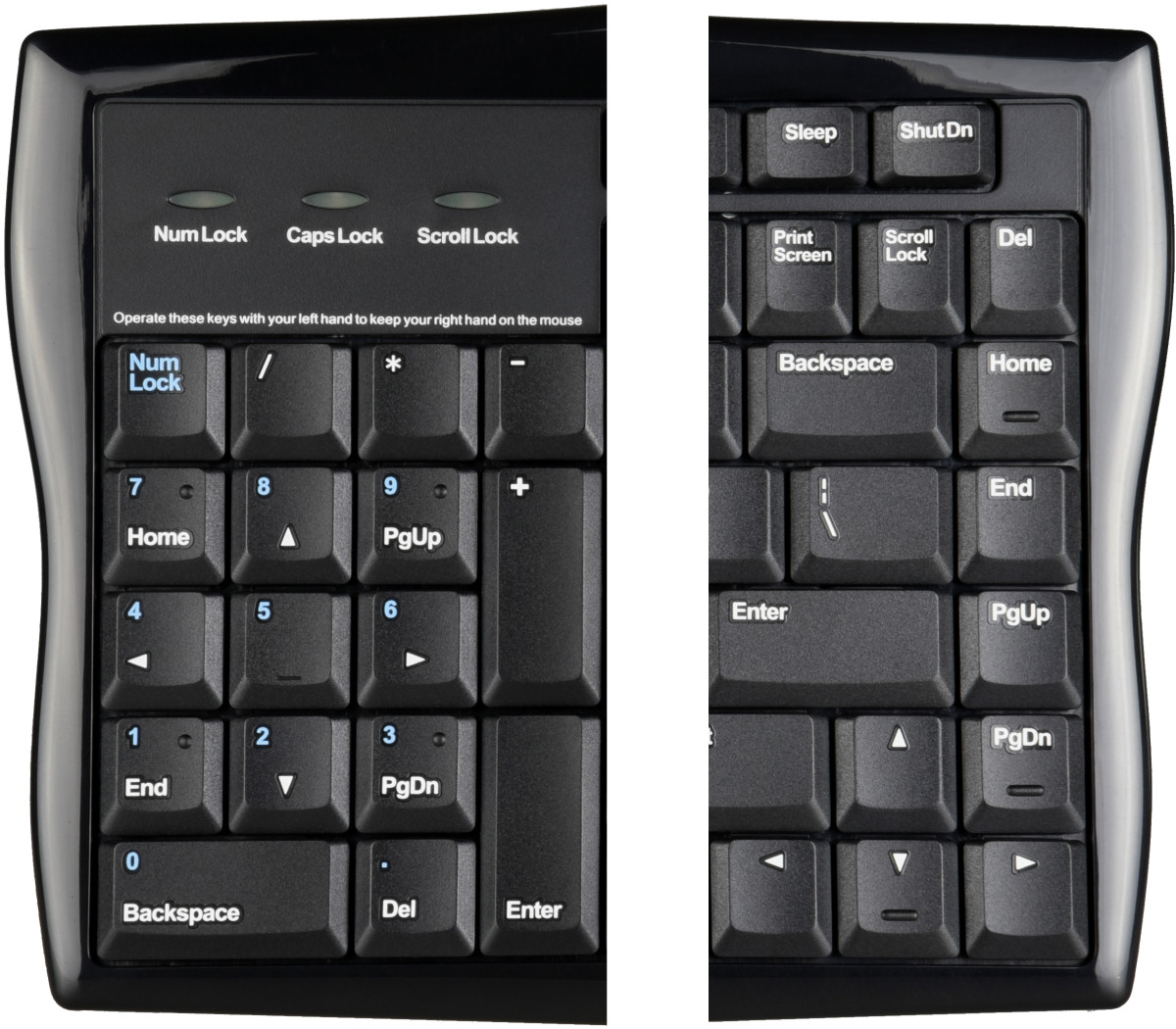 evoluent reduced reach right handed keyboard by evoluent ergocanada detailed specification page. Black Bedroom Furniture Sets. Home Design Ideas