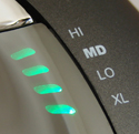 VerticalMouse 4, Closeup of Speed Toggle LED Indicator
