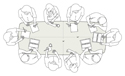 Confluence Conference Table - 8 Person Dimensions