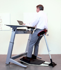 Locus Seat is Ideal for Sit-Stand Workstations
