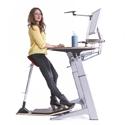 Locus Sphere Desk shown with Locus Seat and Optional Shelf