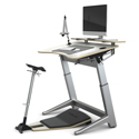 Locus Standing Desk with Stay Flat Shelf (showing with Locus Seat and Accessories)