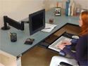 Sit-Stand Keyboard Arm - sitting
