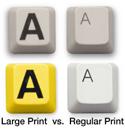 Keys-U-See Large Print USB Keyboard - key cap comparison