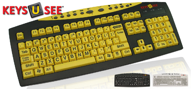 0665cd92daa Keys-U-See Large Print USB Keyboard by Genesis Worldwide Enterprises ...