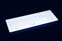 Cleankeys CK4 Wireless Keyboard - Glass Surface is Fully Cleanable