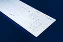 Cleankeys CK4 Wireless Keyboard - Integrated Touchpad and Keypad